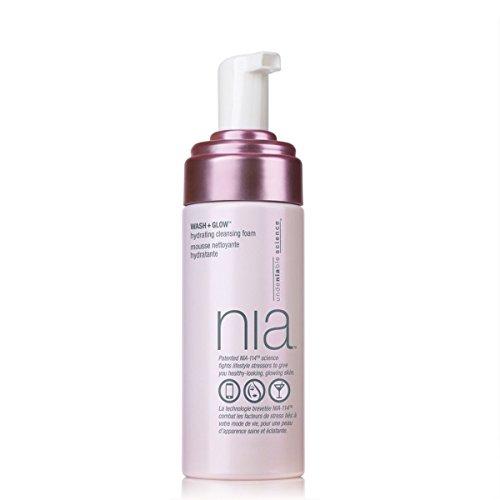 NIA Wash Plus Glow Hydrating Cleansing Foam, 5 fl. oz.