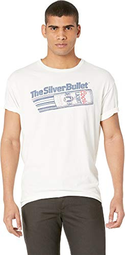 Original Retro Brand The Men's Black Label Vintage Distressed Silver Bullet Tee Antique White Small ()