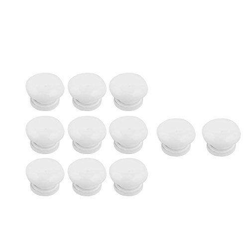 uxcell Home Door Box Closet Wardrobe Handle Pull Knob 3mm Mounting Hole Dia 11pcs White by uxcell
