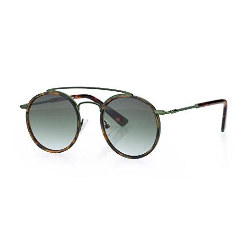 (Retro Fashion Sunglasses Metal Frame Flat Lens Glasses,FDA & CE Standard,fit for small face)