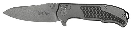 Kershaw Agile (1558), Folding Pocket Knife with 2.75 Inch Blackwash Blade, Includes Reversible Pocketclip and Three Interchangeable Backspacers - Bottle Opener, Screwdriver Tip, Lanyard Hole; 3.9 oz by Kershaw