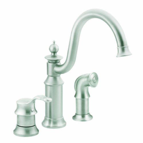 Moen S711CSL Waterhill One-Handle High Arc Kitchen Faucet, Classic Stainless