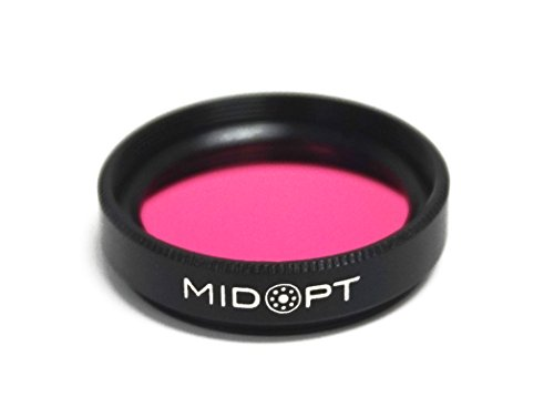 MidOpt Light Red Bandpass Filter for Machine Vision, BP Series, Broad Bandwidth, BP635-25.5, Fits M25.5 Lens Filter Thread (Filter Series Infrared)