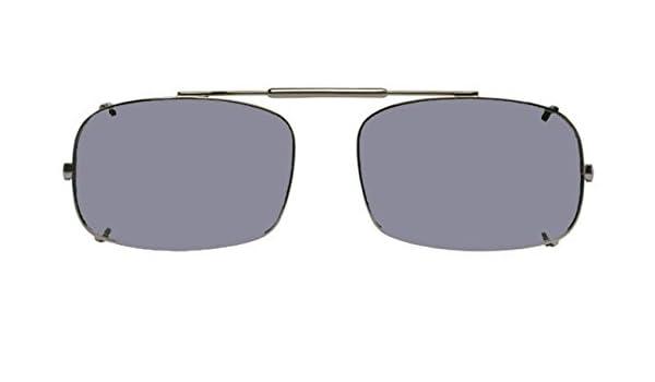 1aa648aafc Visionaries Polarized Clip on Sunglasses - DRX Rec - Black Frame - 56 x 38  Eye