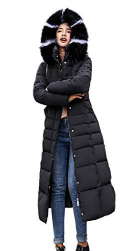 Soufflet Épais Caterto Avec Noir Bordure Fourrure Manteau À En Hiver 678Rwxq7E