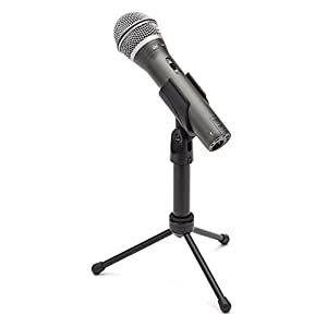 Samson Q2U USB/XLR Dynamic Microphone Recording and Podcasting Pack (Includes Mic Clip, Desktop Stand, Windscreen and Cables)
