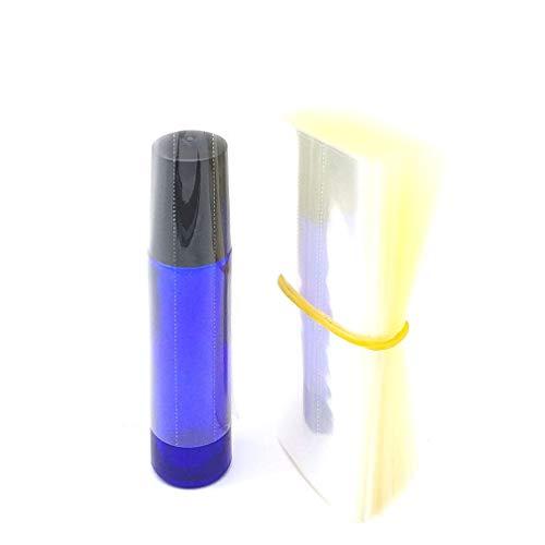 Shrink Wrap for Essential Oil Bottle, 200 Piece PVC Wrap Film for 10ml Roll On Bottles Essential Oils