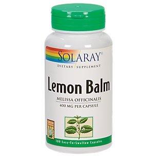 Solaray - Lemon Balm, 400 mg, 100 capsules