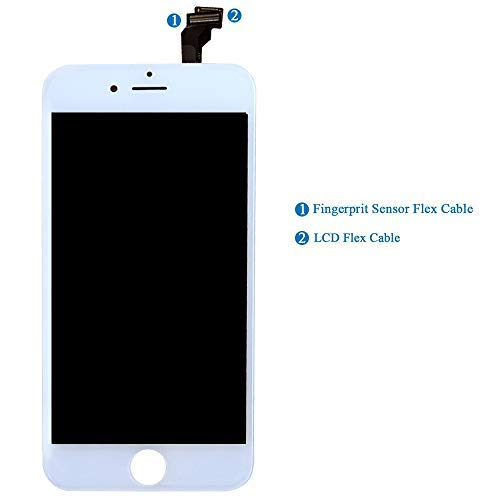 HTECHY Compatible with iPhone 6 Screen Replacement White- Compatible for iPhone 6 Digitizer LCD Touch Screen Display Assembly with Complete Repair Tools Kit Including Screen Protector(4.7 Inch) by HTECHY (Image #3)