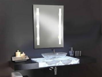 Spiegel Beleuchtet Badezimmer Badspiegel Wandspiegel 70 x 50 cm Lichtspiegel
