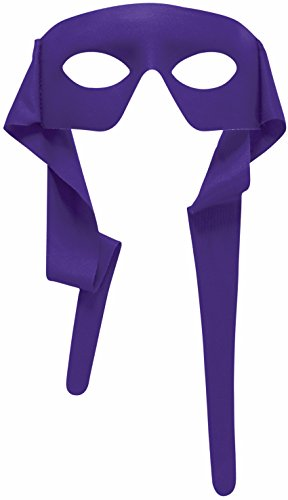 Mens Purple Masked Man With Ties Venetian Mardi Gras Mask Costume Accessory (Mardi Gras Mens Mask)