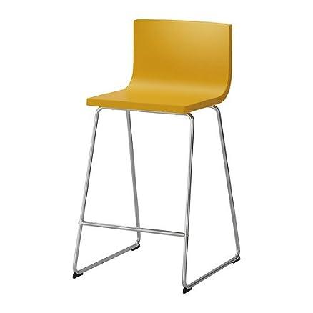 Ikea Bernhard - Sgabello da bar, cromato, kavat dunkelgelb - 63 cm ...