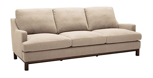 Stone Beam Genesse Sectional Sofa Couch, 91 W, Fawn