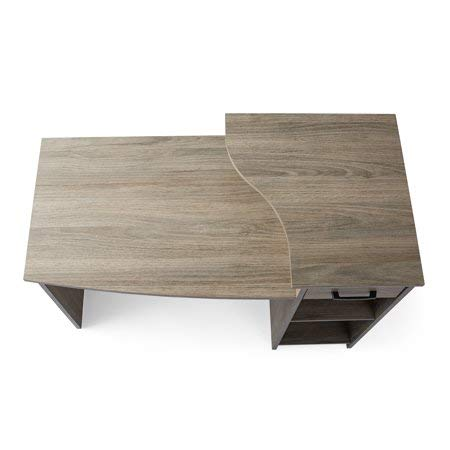 Mainstays Student Desk Rustic Oak + Cleaning Cloth