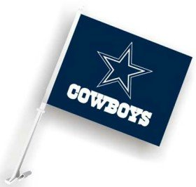 Dallas Cowboys Car Flags - Set of Two (Dallas Cowboys Football Car Flag)