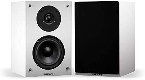 Fluance Elite Excessive Definition 2-Means Bookshelf Encompass Sound Audio system for 2-Channel Stereo Listening or Dwelling Theater System – White/Pair (SX6WH)