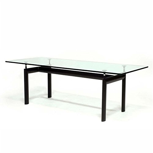 Designer Modern Le Corbusier-Style LC6 Dining Table With Black - Corbusier Glasses