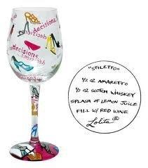 (Lolita- Wine Glass Stiletto Design)
