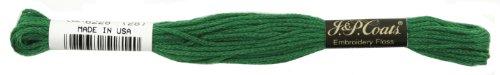Coats Crochet 6-Strand Embroidery Floss, Christmas Green, 24-Pack