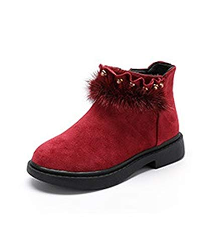 cici shoes Beautiful Baby Kids Boots Girl Boy Shoes Rain Hiking Winter Snow Booties (Red/EU 28/11 M US Little -
