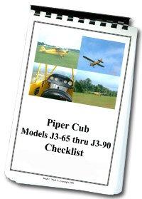 (Piper Cub Aircraft Checklist)