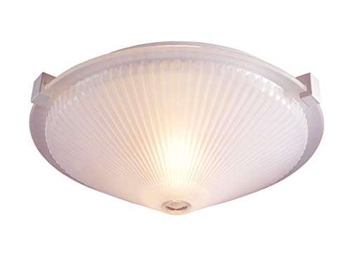 Lite Source LS-5372FRO Sanddollar Flush Mount Ceiling Lite, Frost Glass Shade, 16-Inch Diameter