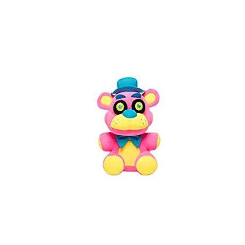 """Five Nights At Freddys - Freddy Fazbear Neon Blacklight Plush - Pink - 10cm 4"""""""