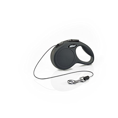 Flexi New Classic Retractable Dog Leash (Cord), 10 ft, Extra Small, Black (Leash Dog Retractable Animal)