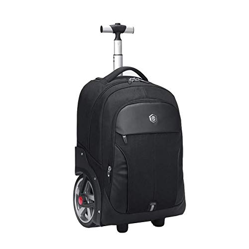 Outdoor Product/Fashion Bag High Capacity Nylon Waterproof Business Travel Trolley Backpack antitheft 17 inch Laptop Rolling Backpack with Large Wheels Hand Cabin Luggage,Blue,20inch ()