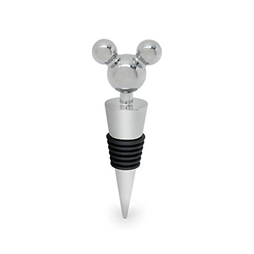 Disney Parks Mickey Ears Icon Silver Stainless Steel Bottle Wine Stopper Exclusive ()