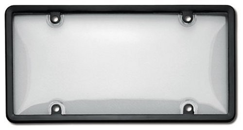 Cruiser Accessories 12.2 x 6.3 x 0.5 Inches 60510 Combo License Plate Shield/Cover, Black/Clear Cruiser Acrylic License Plate Bubble