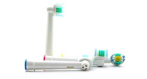 Frost® 3D White compatibile 4 X Recambio para Cepillo eléctrico Compatible y en forma Braun Oral-B compatibile with Oral-B / Braun Vitality Precision Clean, ...
