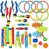 JOYIN 30 Pcs Diving Pool Toys Jumbo Set Includes