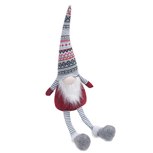 - GMOEGEFT Swedish Plush Gnome, Sitting Tomte Christmas Holiday Decoration, Home Ornament 17 Inches, Pack of 1(Grey Geometry Sit)