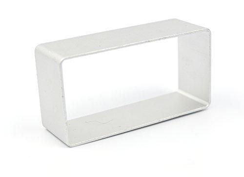 BTMB Aluminum Cookie Cutter Rectangles Set of 10(Big rectangle) ()