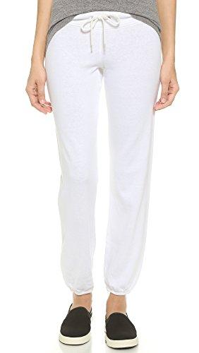 MONROW Women's Vintage Sweatpants, White, Small