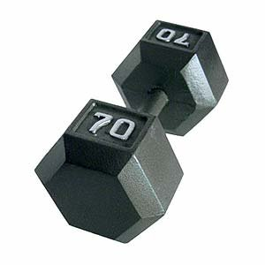 Cap Barbell Solid Hex Single Dumbbells (70-Pound)