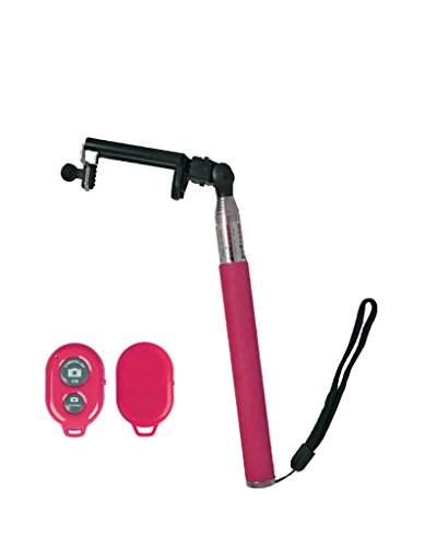 Z07-5 Wireless Monopod with Built-in Bluetooth Shutter (Pink) - 4