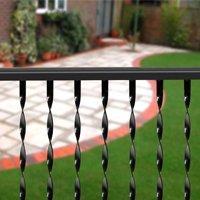 Ll Building Tr475 Traditional Twisted Ornamental Iron Railing, (Ornamental Iron Railing)