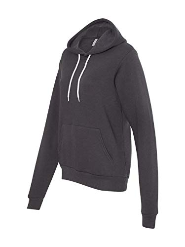 Bella Canvas Unisex Poly-Cotton Fleece Pullover Hoodie Sweatshirt-Dark Grey-X Large