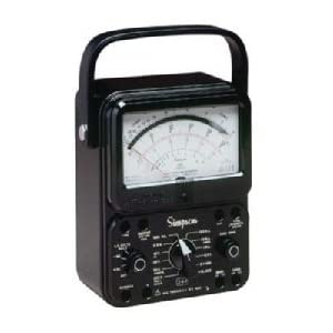 Simpson 260-8 / 12388, Black Analog Multimeter