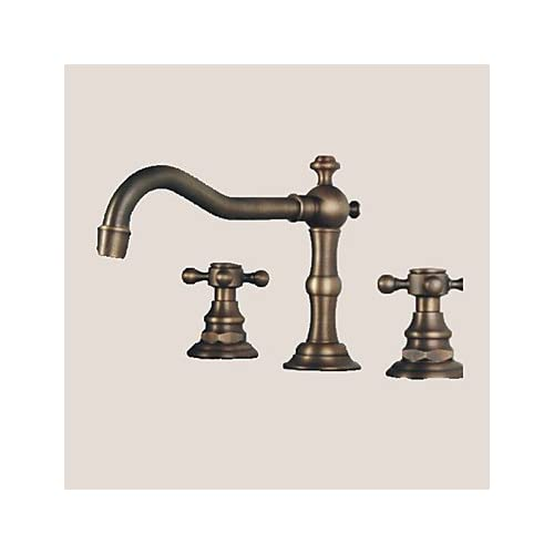 W&P Generally two handles antique bronze bathroom sink faucet three-hole high-quality
