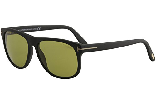 Tom 236 (Sunglasses Tom Ford OLIVIER TF 236 FT 02N matte black / green)
