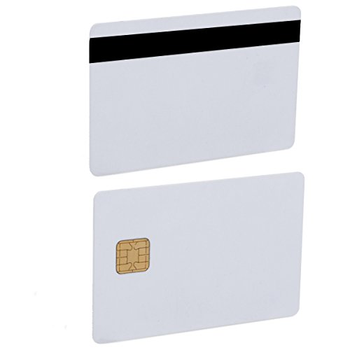 Fargo Hdp5000 Magnetic Stripe - Java Chip Smart Card JCOP 40K J2A040 Java Card with 3 Track 12.7 mm HICO/LOCO Magnetic Stripe- 5 Pack