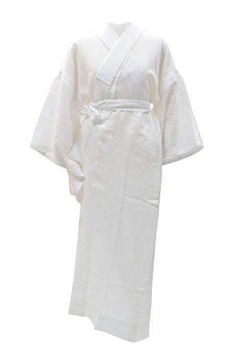 KYOETSU Women's Japanese Kimono Summer Underwear Nagajuban Washable Linen (Small, White (without emonnuki)) by KYOETSU