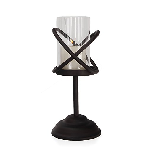Adeco Classic Style Metal Candle Holder