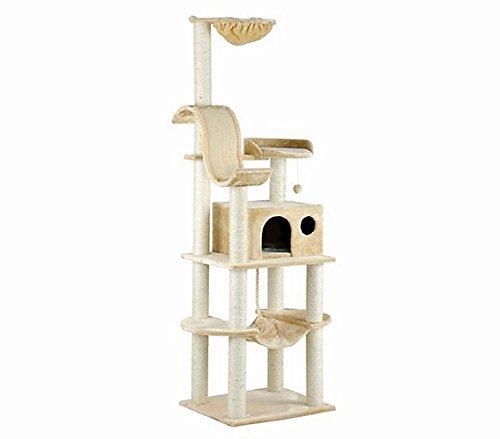 SILVIO DESIGN | Kletterbaum Holiday junior beige | L 45 x B 75 x H 176 cm