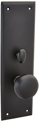 (Baldwin 6552.ENTR Baltimore Single Cylinder Mortise Handleset Trim Set, Satin Black)