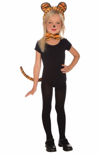 Plush Tiger Child Costume Kit - Girls Lion Kit