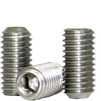 """#8-32 x 1"""" UNC CUP POINT SOCKET SET SCREWS CUP POINT COARSE STAIN A2 (18-8),Head: None,Drive: Internal Hex,stainless_steel_18-8,Point Style: Cup,Thread: UNC (Inch) (Quantity: 100)"""